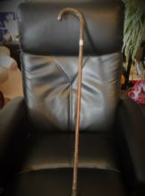 VINTAGE SILVER COLLAR WALKING STICK CANE HALLMARKED LONDON 1947 KENDALL SONS